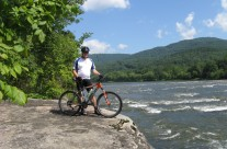 Cycling along the New River, WV